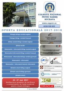 Afis plan de scolarizare