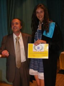 Clara Casuneanu si prof. Gheorghe Cirstian